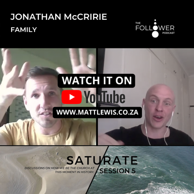 Cover art for Saturate session 5. Jonathan McCririe and the sphere of family