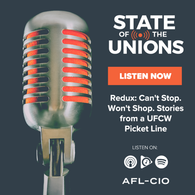 Cover art for Redux: Can't Stop. Won't Shop. Stories from a UFCW Picket Line
