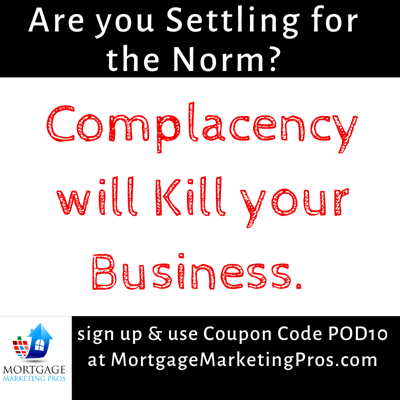 Cover art for Ep #49: Complacency will certainly kill your business.