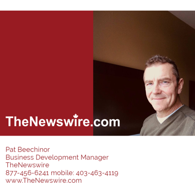 Cover art for TheNewswire's CEO Pat Beechinor visits host Jim Ripley