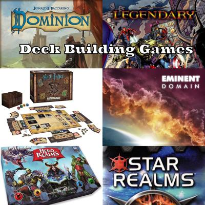 Cover art for Episode 29: Deck Building Games