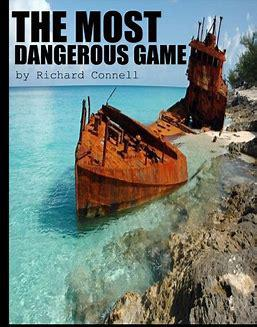 Cover art for Most Dangerous game by Richard Connell book to movie review of several adaptations (audio)