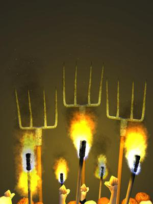 Cover art for New song:  Torches and Pitchforks