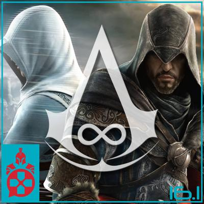 Cover art for Episode 16.1: Switch OLED, Assassin's Creed Infinity, State of Play, Queenpins, and Encanto