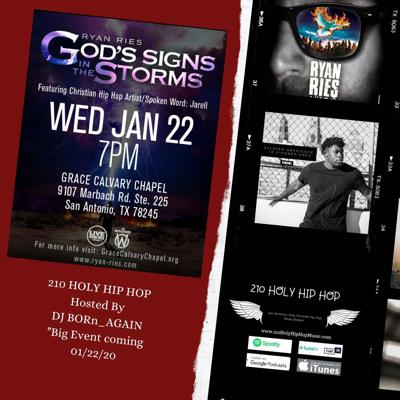 Cover art for Free Event @RyanRies #TheWhosoevers @jarrellfmg on Wed. 01/22 at 7pm, Hosted by Dj Born-Again