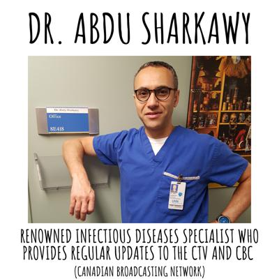 Cover art for Dr. Abdu Sharkawy provides daily updates for the CBC of Canada - when his FB post went viral, he instantly became recognizable across the globe