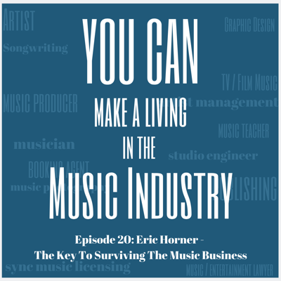 Cover art for Episode 20: Eric Horner - The Key To Surviving The Music Business