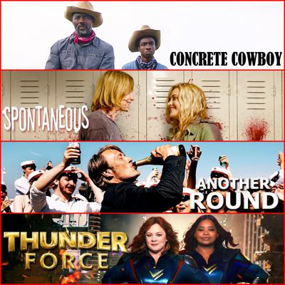 Cover art for Ep. 86 - Weekly Discussion: Concrete Cowboy, Spontaneous, Another Round, and Thunder Force