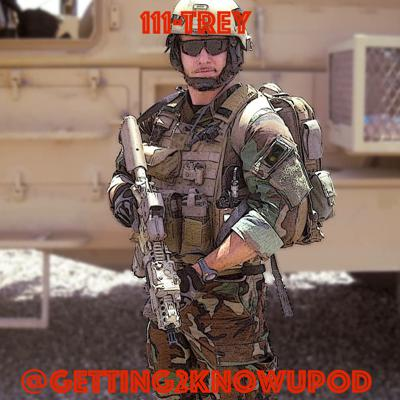 Cover art for 111-Trey: United States Special Forces Sergeant, Weapons Squadron Medic, Alligator Wrestler, Has 20 Nicknames, Competitive Shooter, Not About Thursday Nights in Afghanistan