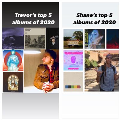 """Cover art for 2020 """"Best of the Rest"""" (Album Divers top 10 albums of the year)"""