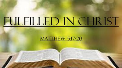 Cover art for Fulfilled in Christ