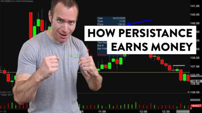 Cover art for How to Make Money Using Patience and Persistence (Day Trading Stocks)