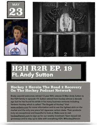 Cover art for #19 Ft. Retired NHL D-Man and Owner of Verbero Hockey, Andy Sutton