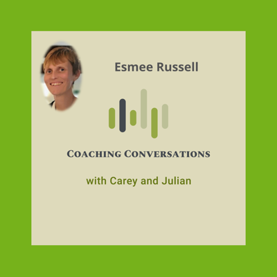Cover art for Episode 48 with Esmee Russell who is The Change Makers' Coach