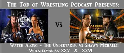 Cover art for Episode 18 - Undertaker vs Shawn Michaels - Back to Back Wrestlemania Watch Along