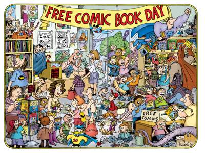 Cover art for Bouncing at Free Comic Book Day