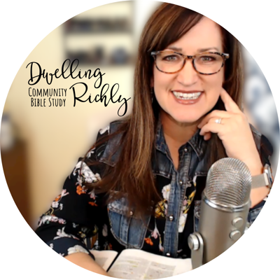 A podcast for Bible study, teaching, and meditations through God's Word. Dwelling Richly Community Bible study is available to all. Download the studies at www.JenniferGRichmond.com. Join Jennifer on Facebook, Instagram, and YouTube.com/c/JenniferRichmond