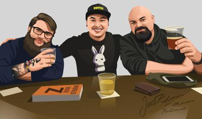 Three friends play TTRPGs and discuss varying topics.