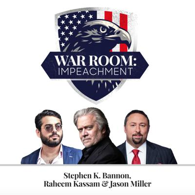 Former White House Chief Strategist Stephen K. Bannon, Jason Miller (2016 Trump Senior Communications Advisor), and Raheem Kassam (former chief advisor to Nigel Farage) broadcast every day on the historic impeachment of President Donald J. Trump.