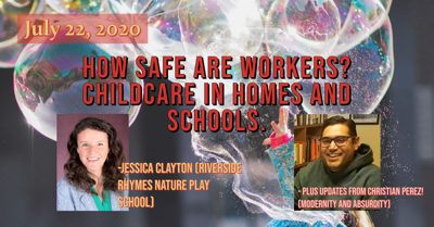 Cover art for #NJRR Live July 22, 2020: How Safe Are Workers? Childcare in Home and Schools
