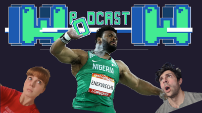 Cover art for Ep 29 - The #8 ranked Shot Putter. IN THE WORLD.