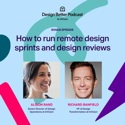 Cover art for How to run remote design sprints and design reviews: Richard Banfield and Alison Rand
