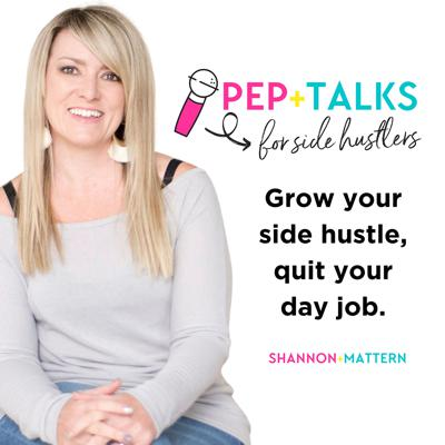If want to know how to market your business online, former side-hustler turned full-time entrepreneur Shannon Mattern shares all her best online marketing strategies. She also shares her side-hustle to self-employed experience to inspire you to build a successful side hustle that can replace your day job income. Growing a business while working full time is challenging, but it can also be extremely rewarding! Get Shannon's best insider tips, tactics and actionable strategies for starting a side hustle, including mindset, time management, work-life balance, relationships, marketing strategies, money, and how to grow a business while working full time. Learn more about Pep Talks for Side Hustlers and find freebies, resources and show notes at https://www.peptalksforsidehustlers.com