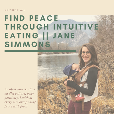 Cover art for 010. Find Peace through Intuitive Eating || Jane Simmons