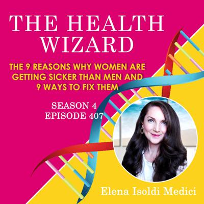Cover art for 407 - The 9 Reasons Why Women are Getting Sicker Than Men and 9 Ways to Fix Them