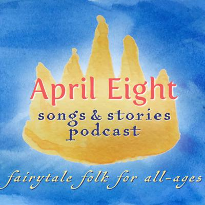 """Hooray! Your family is heading for delight. April Eight Songs & Stories is a charming original fairytale podcast series for the whole family. Listen together as a lovely green world of wonder full of humble gnomes, sparkling fairies and grouchy trolls, mischievous woodland creatures and magical butterflies who are more than they appear to be, take you on adventures where everyday kids, tricky witches, lost crowns and fearless queens encounter magical potions and wondrous journeys. Giggle, laugh out loud, think a little deeper, hold your breath, smile – and get ready for your kids to say, """"Play it again!"""" For on the April Eight Songs & Stories Podcast, unexpected heroes take the day in pursuit of life's simple truth: Love conquers all and will always find a way. Start with Episode 1, and let the fun roll on from there. Subscribe today and never miss a story!"""