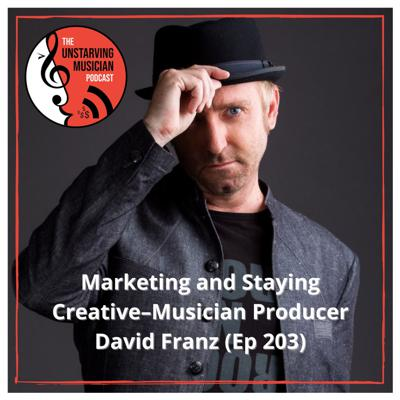 Cover art for Marketing and Staying Creative–Musician Producer David Franz (Ep 203)