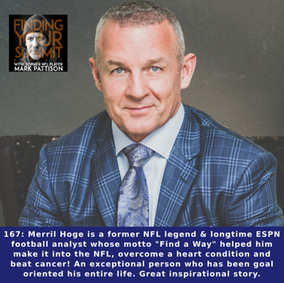 Cover art for Merril Hoge is a former NFL legend & longtime ESPN football analyst whose motto