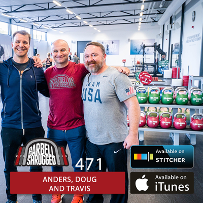 Cover art for How to Effectively Start Strength Training After Quarantine w/ Anders Varner, Doug Larson, and Travis Mash - Barbell Shrugged - #471