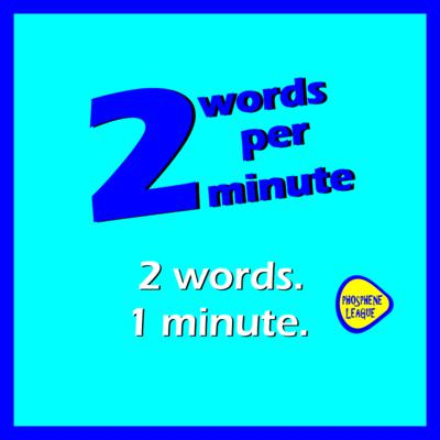 2 words per minute