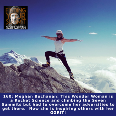 Cover art for Meghan Buchanan: This Wonder Woman is a Rocket Science and climbing the Seven Summits but had to overcome her adversities to get there.  Now she is inspiring others with her GGRIT!