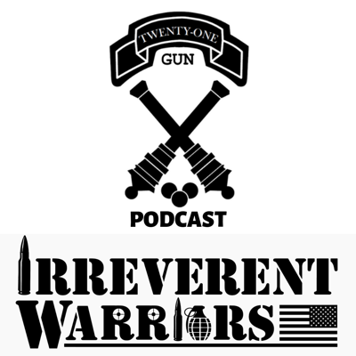The Twenty One Gun Podcast, in partnership with Irreverent Warriors, is an interview show highlighting the experiences of the modern veteran through the voices of those that served. It is an unfiltered view into our motives for joining, our experiences serving, and how we perceive our place in a society of non-veterans.  Twenty One Gun shares a common philosophy with Irreverent Warriors: reigniting the camaraderie and sense of purpose experienced within the brotherhood we once had in the military and reinforcing the notion that we'll always be there for each other. Bringing veterans together through humor and camaraderie improves their quality of life. Be that through the 21 Gun Podcast, IW Silkies Hikes, or other veteran events.  THE END RESULT IS THE SAME: fewer veterans who kill themselves!