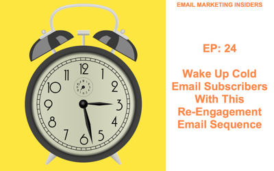 Cover art for EP 24:  Wake Up Cold Email Subscribers With This Re-Engagement Email Sequence