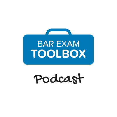 The Bar Exam Toolbox podcast helps bar takers pass with less stress and anxiety. Hosted by bar exam experts Lee Burgess and Alison Monahan, the Bar Exam Toolbox podcast covers a wide variety of topics, ranging from how to learn and memorize all the law you need to know for the bar exam, to how to write a passing essay, to how to get bar exam accommodations. If you're struggling with the bar exam, or work with students who are, tune in for practical strategies for bar exam success!