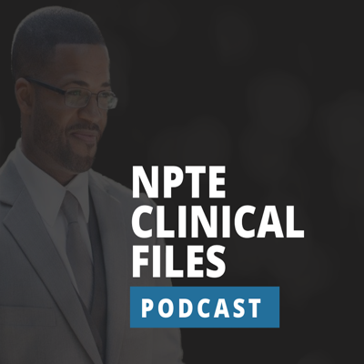 NPTE Clinical Files is a podcast from the creator of Dominating the NPTE, hosted by Kyle Rice. NPTE Clinical Files explains a true clinical scenario in the form of a mock NPTE-based question. Each question is followed by a set of answer choices, where Dr. Kyle Rice explains the right answer with a detailed rationale. Each season covers all of the major systems and topics found in physical therapy and likely to be found on an NPTE. NPTE Clinical Files gives the Physical Therapist a weekly opportunity to solve clinical puzzles while learning the latest research related to the topic.