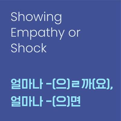 Cover art for Level 10 Lesson 27 / Showing Empathy or Shock / 얼마나 -(으)ㄹ까(요), 얼마나 -(으)면