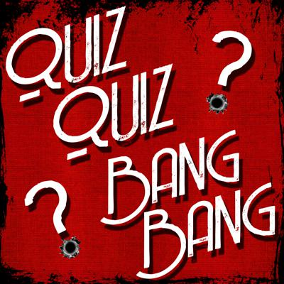 Quiz Quiz Bang Bang is a weekly pub trivia practice podcast. For three weeks out of the month it is straight questions and answers as read by the hosts Annie and David Flora. Once a month we invite friends to join us for a live game of quiz bang trivia to add the humor, thought processes and fun.  The show's format is 4 rounds of 4 questions each with a quick-fire Bang Bang Round after Round 2. After Round 4, a final Big Bang round caps off the show with 3 questions, the answers of which are hints to one final question. Scoring would work as follows: Rds 1-4: 10 pts/correct answer; Bang Bang: 2 pts./correct answer; Final 3: no pts for the clue questions; wager up to your point total for the final question.