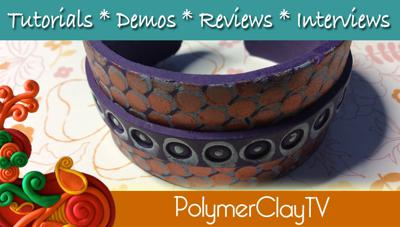 Cover art for Flexible polymer clay cuff bracelets