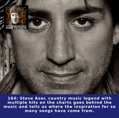 Cover art for Steve Azar, country music legend with multiple hits on the charts goes behind the music and tells us where the inspiration for so many songs have come from