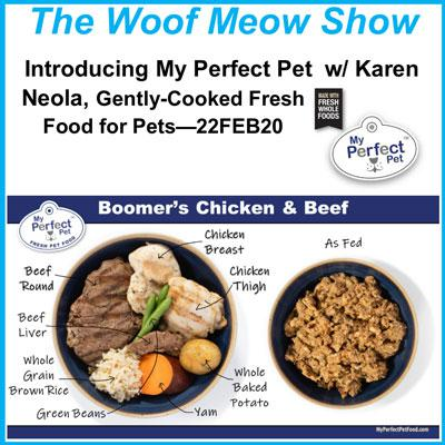 Introducing My Perfect Pet, Gently-Cooked, Fresh Food for Pets, with owner Karen Neola