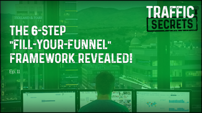 """Cover art for Ep 11 - The 6-Step """"Fill-Your-Funnel"""" Framework REVEALED!"""