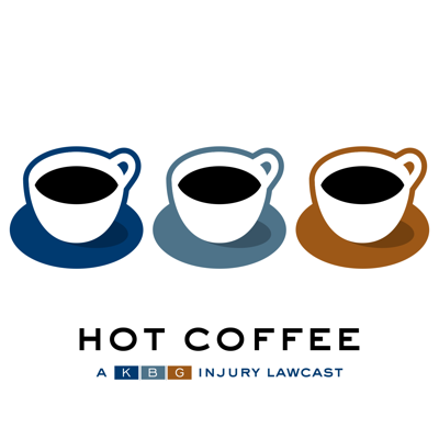 Hot Coffee, a KBG Injury Lawcast, answers your questions about personal injury and workers'  compensation law, and discusses legal topics trending in Pennsylvania and throughout the U.S.