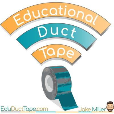 The #EduDuctTape Podcast, hosted by Jake Miller, focuses on viewing #edtech as a tool used to meet goals, address learning standards and solve problems in the classroom, much as duct tape is used as a tool that solves a plethora of problems in our lives. In each episode, Jake sits down with a different inspiring guest to share and discuss some awesome ideas for using tech in the classroom! Join us for Educational Duct Tape, every other week on Wednesday!