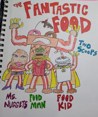 Cover art for Here Comes the Pitch #29 THE FANTASTIC FOOD Luster Kaboom