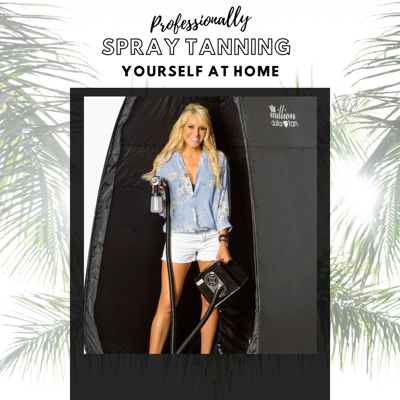 Cover art for Professionally Spray Tanning Yourself At Home