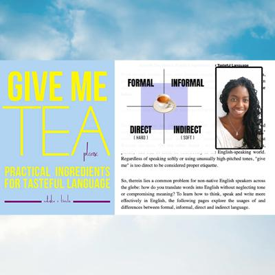 Cover art for 743. Give me Tea, Please - Practical Ingredients for Tasteful Language (with Natasha V Broodie) + ramble / song